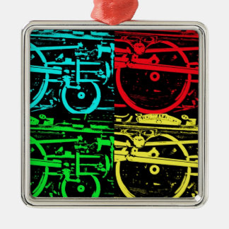 pop art steam christmas ornament
