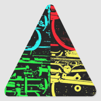 pop art steam triangle sticker