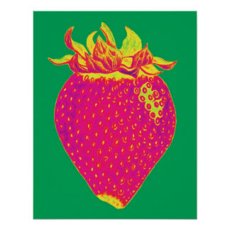 Pop art Strawberry Print