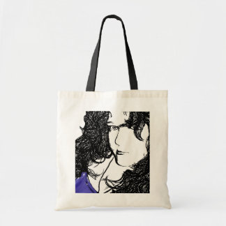 Pop Art Style Girl Tote Budget Tote Bag