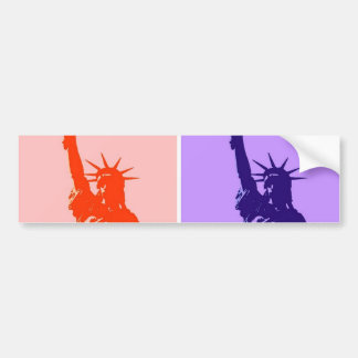Pop Art Style Statue of Liberty Bumper Sticker