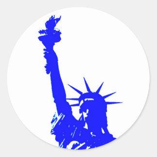 Pop Art Style Statue of Liberty Stickers