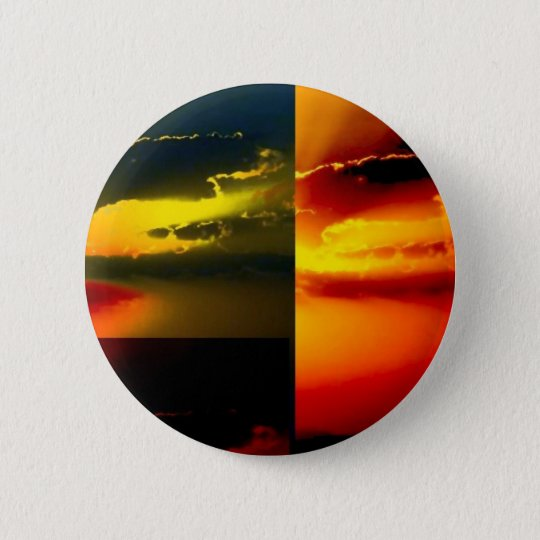 Pop Art Sunset 6 Cm Round Badge
