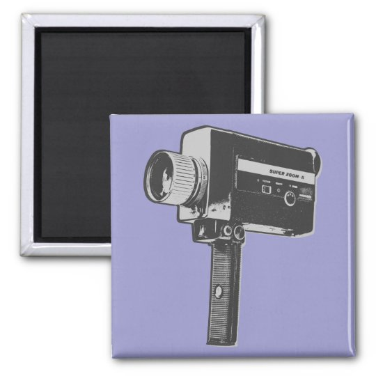 Pop Art Super 8 Movie Camera Magnet