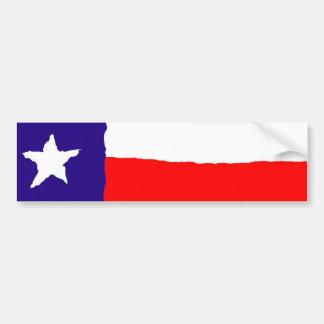 Pop Art Texas State Flag Bumper Sticker
