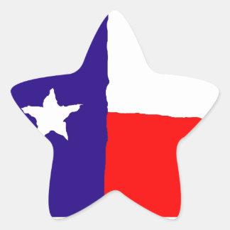 Pop Art Texas State Flag Star Sticker