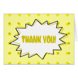 Pop Art Thank You Card - Yellow Halftone