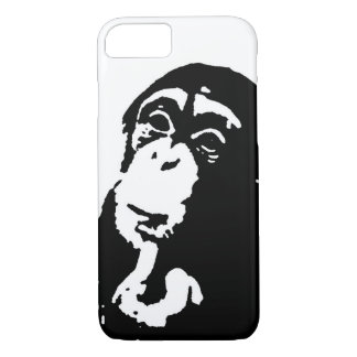 Pop Art Thinking Chimpanzee iPhone 7 Case