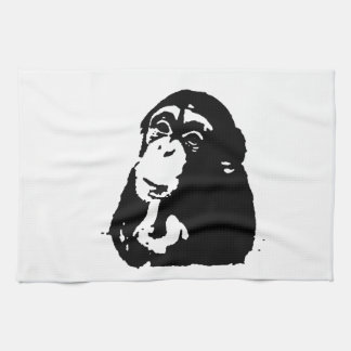 Pop Art Thinking Chimpanzee Tea Towel