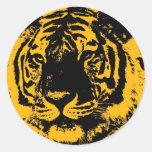 Pop Art Tiger Round Sticker