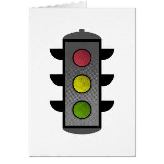Pop Art Traffic Light Card