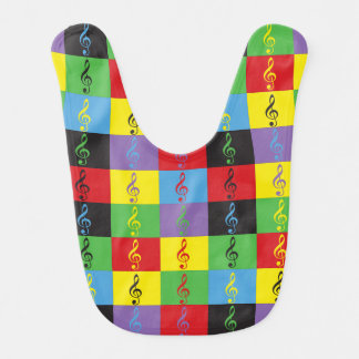 Pop Art Treble Clef Bib