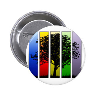 Pop Art Tree 6 Cm Round Badge