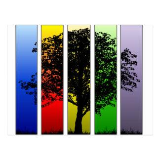 Pop Art Tree Postcard