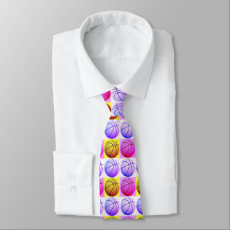 Pop Art Trendy Unique Modern Basketball Tie