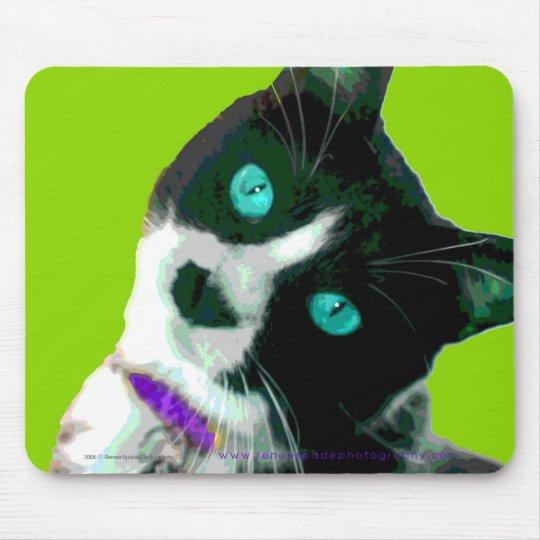 Pop ART Tuxedo Kitty Mouse Pad