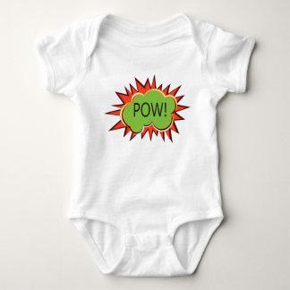 Pop art typography explosion baby bodysuit