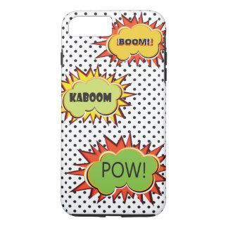 Pop art typography retro style theme design iPhone 8 plus/7 plus case