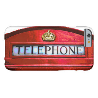 Pop Art Vintage London City Red Telephone Booth Barely There iPhone 6 Case