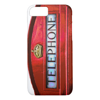 Pop Art Vintage London City Red Telephone Booth iPhone 7 Case