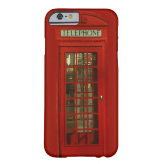 Pop Art Vintage London City Red Telephone Box Barely There iPhone 6 Case