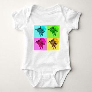 Pop Art Viola Hermit Crab Design Baby Bodysuit