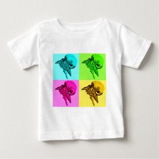 Pop Art Viola Hermit Crab Design Baby T-Shirt