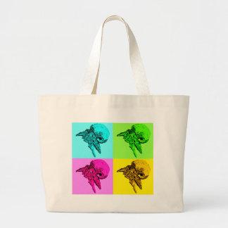 Pop Art Viola Hermit Crab Design Large Tote Bag