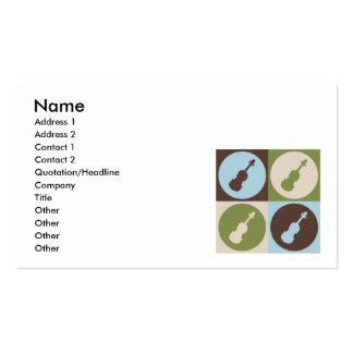 Pop Art Violin Business Card Template