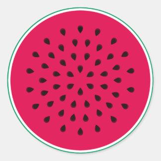 Pop art Watermelon Classic Round Sticker