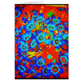 Pop Art Waxflower Blank Greeting Card
