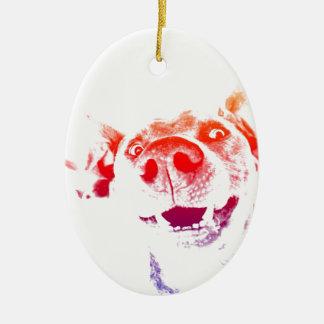 Pop art Weimaraner Christmas Ornament