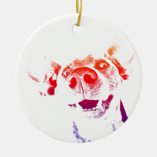 Pop art Weimaraner Christmas Ornament