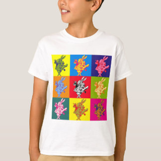 Pop Art White Rabbit Full Colour T-Shirt