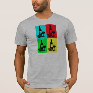 Pop-art Wine and Grapes Art Gifts T-Shirt