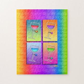 Pop Art WINE PUZZLE - PUZZLE GIFT TIN