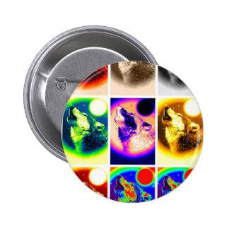 Pop Art Wolf 6 Cm Round Badge