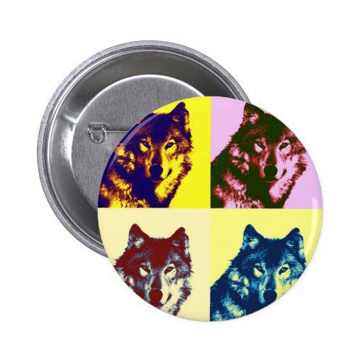 Pop Art Wolf Pin