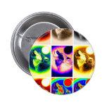 Pop Art Wolf Button