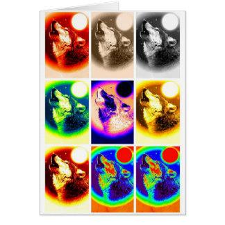 Pop Art Wolf Card