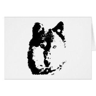 Pop Art Wolf Greeting Card