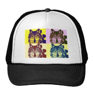 Pop Art Wolf Hats