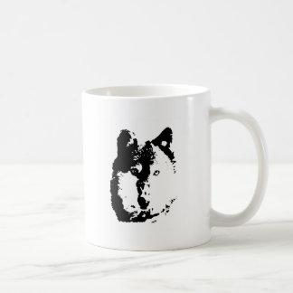 Pop Art Wolf Coffee Mugs
