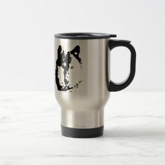 Pop Art Wolf Stainless Steel Travel Mug