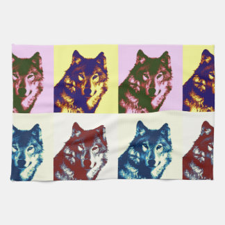 Pop Art Wolf Towel