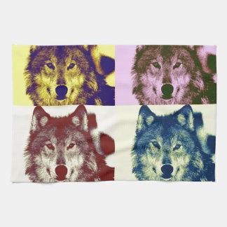 Pop Art Wolf Towels