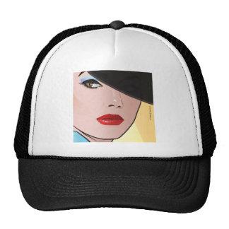 Pop Art Woman Grace Mesh Hats