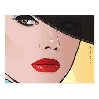 Pop Art Woman Grace Postcard