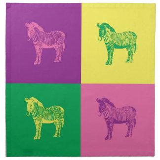 Pop Art Zebra Napkin