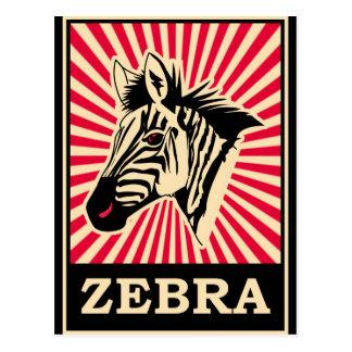 Pop Art Zebra Postcard